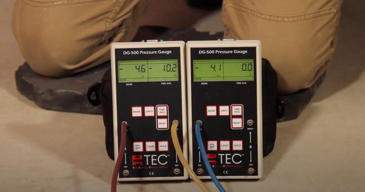 Radon mitigation micro manometer test