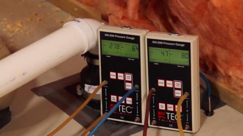 Pitot tube radon test