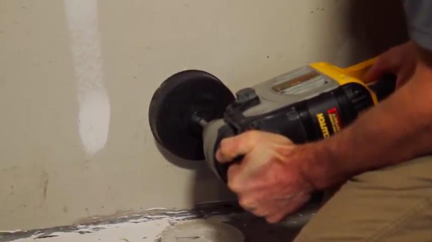 Radon mitigation garage hole