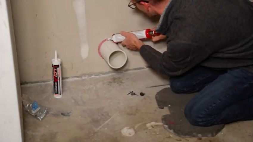 Radon mitigation smoke sealant
