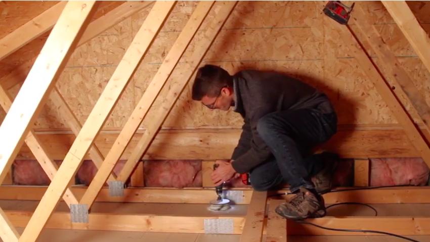Drilling a garage attic hole
