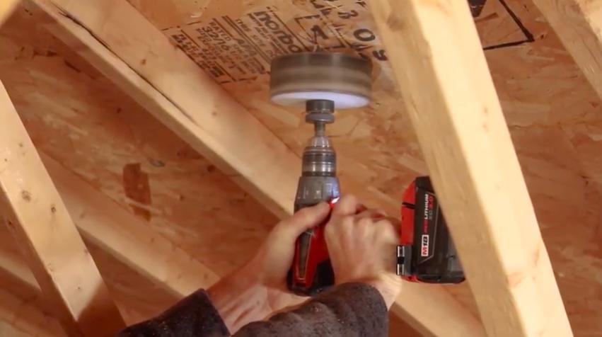 Cutting a hole in the garage attic ceiling