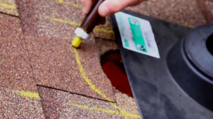 Rooftop flashing chalk