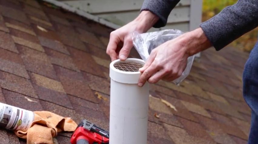 Radon vent pipe cap