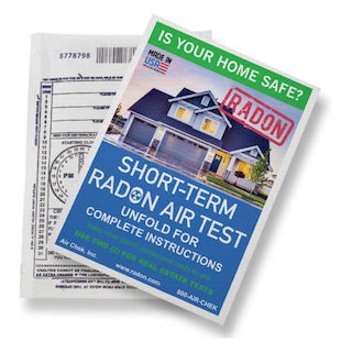 Short Term Radon Air Test